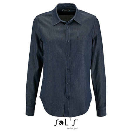 Women`s Denim Shirt Barry von SOL´S (Artnum: L02101