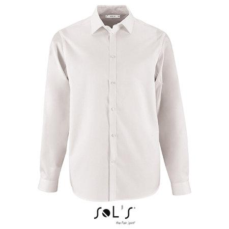 Men`s Herringbone Shirt Brody in White von SOL´S (Artnum: L02102
