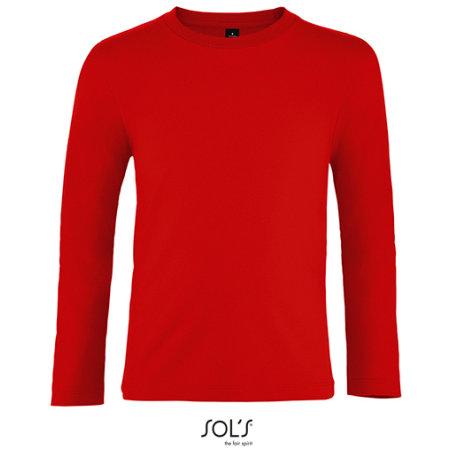 Imperial Long Sleeve Kids T-Shirt in Red von SOL´S (Artnum: L02947