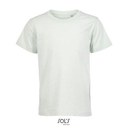Kids´ Round Neck T-Shirt Martin in Creamy Green von SOL´S (Artnum: L03102