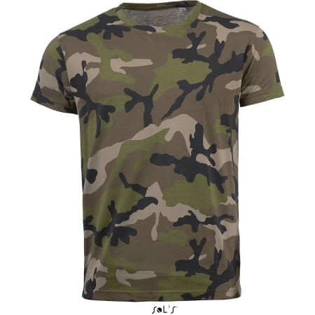 Men`s Camo T-Shirt von SOL´S (Artnum: L133