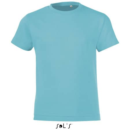 Kids` Round Collar T-Shirt Regent Fit in Atoll Blue von SOL´S (Artnum: L149K