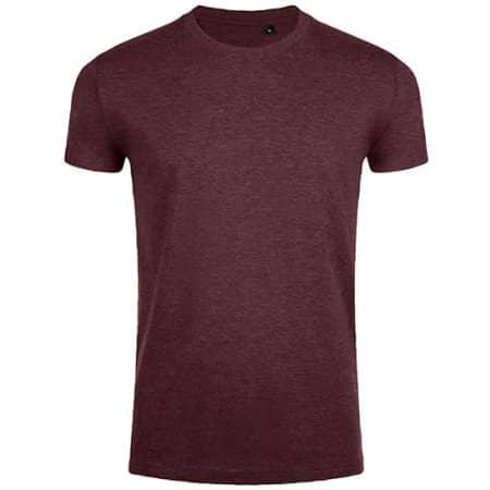 Imperial Fit T-Shirt in Heather Oxblood von SOL´S (Artnum: L189