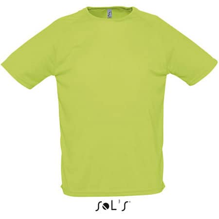Men`s Raglan Sleeves T Sporty in Apple Green von SOL´S (Artnum: L198
