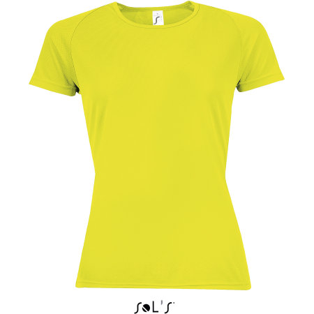 Women`s Raglan Sleeves T Sporty in Neon Yellow von SOL´S (Artnum: L200