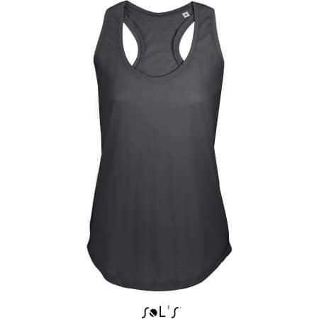 Women T-Back Tank Top Moka in Dark Grey (Solid) von SOL´S (Artnum: L223