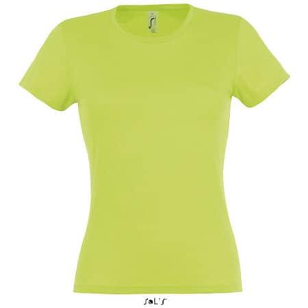 Ladies` T-Shirt Miss in Apple Green von SOL´S (Artnum: L225