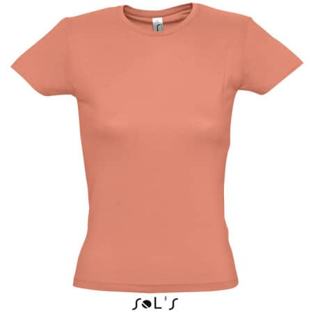 Ladies` T-Shirt Miss in Coral von SOL´S (Artnum: L225