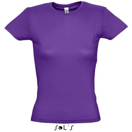 Ladies` T-Shirt Miss in Dark Purple von SOL´S (Artnum: L225