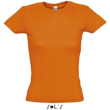 Ladies` T-Shirt Miss in Orange von SOL´S (Artnum: L225