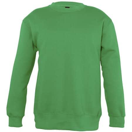 Kids` Sweatshirt New Supreme in Kelly Green von SOL´S (Artnum: L311K