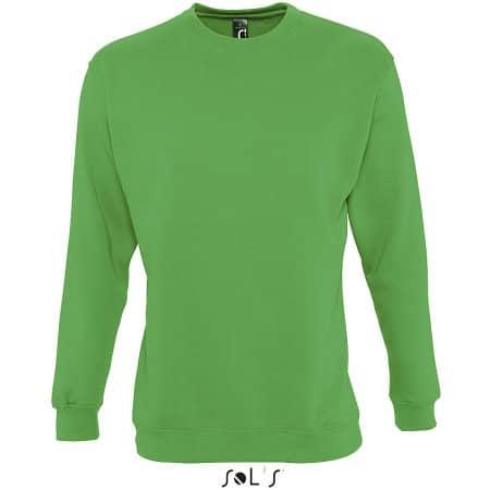 Unisex Sweatshirt Supreme in Kelly Green von SOL´S (Artnum: L327