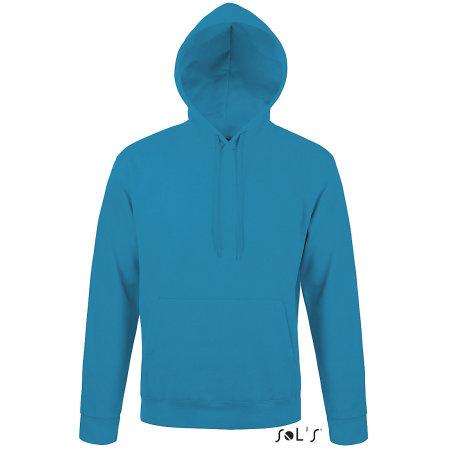 Unisex Hooded Sweat-Shirt Snake in Aqua von SOL´S (Artnum: L330