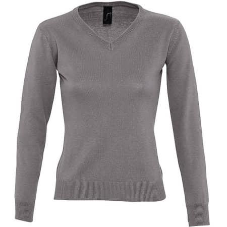 Women`s V Neck Sweater Galaxy von SOL´S (Artnum: L411