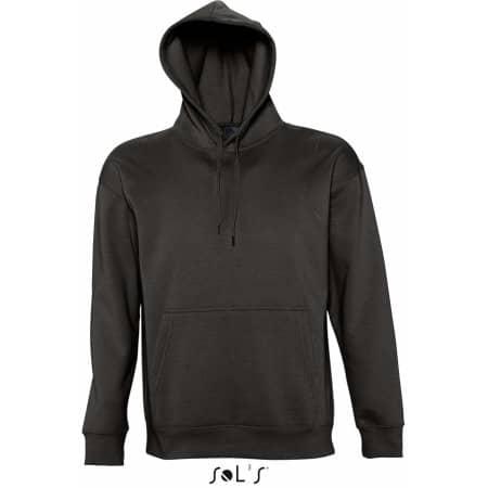 Hooded-Sweater Slam in Black von SOL´S (Artnum: L420