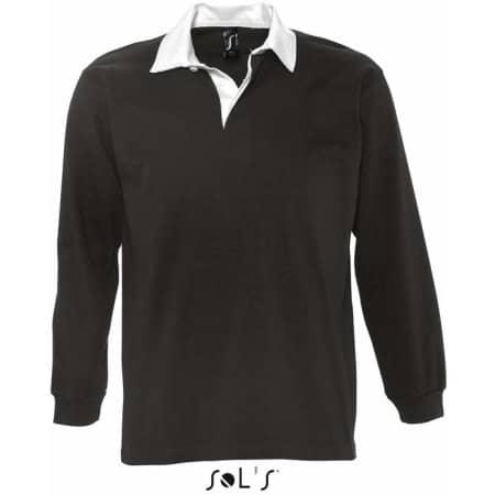 Rugbyshirt Pack in Black|White von SOL´S (Artnum: L466