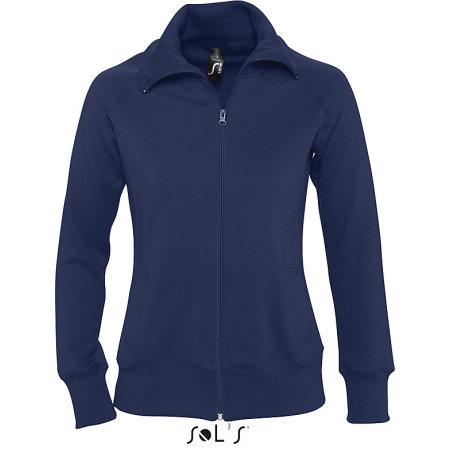 Women`s Zipped Jacket Soda in Navy von SOL´S (Artnum: L474