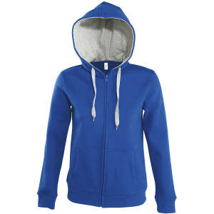 Contrast Hooded Zip Jacket Soul Women