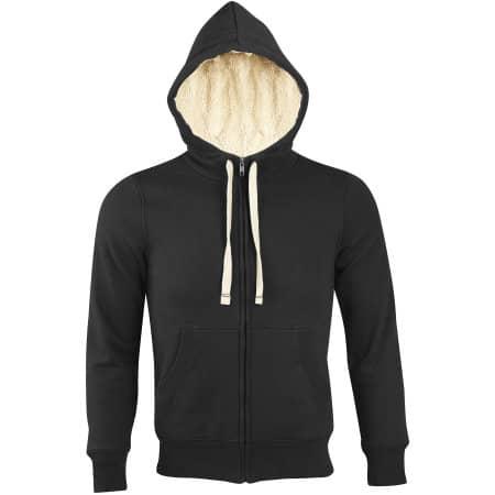 Unisex Zipped Jacket Sherpa in Black von SOL´S (Artnum: L482