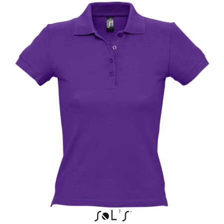Ladies` Polo People 210 in Dark Purple von SOL´S (Artnum: L519