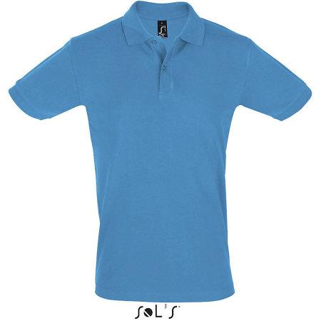 Men`s Polo Shirt Perfect in Aqua von SOL´S (Artnum: L525