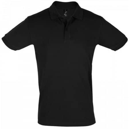 Men`s Polo Shirt Perfect in Black von SOL´S (Artnum: L525