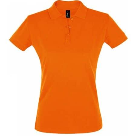 Women`s Polo Shirt Perfect in Orange von SOL´S (Artnum: L526