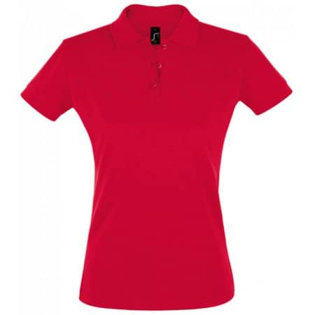 Women`s Polo Shirt Perfect in Red von SOL´S (Artnum: L526