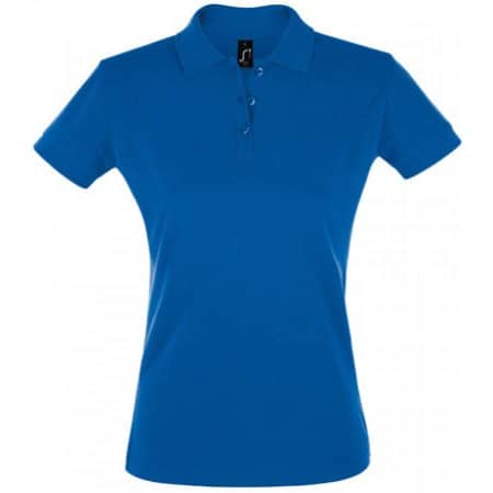 Women`s Polo Shirt Perfect in Royal Blue von SOL´S (Artnum: L526