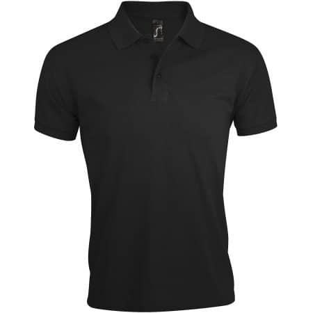 Men`s Polo Shirt Prime in Black von SOL´S (Artnum: L527