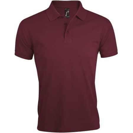 Men`s Polo Shirt Prime in Burgundy von SOL´S (Artnum: L527
