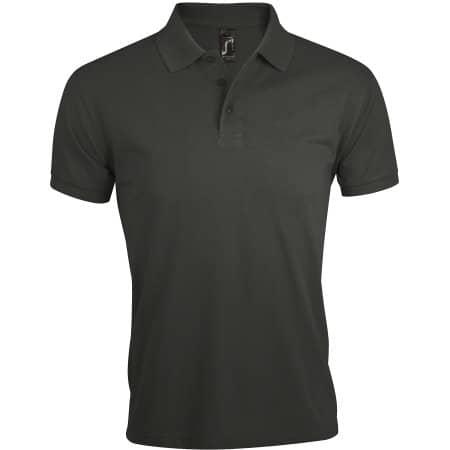 Men`s Polo Shirt Prime in Dark Grey (Solid) von SOL´S (Artnum: L527