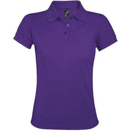 Women`s Polo Shirt Prime in Dark Purple von SOL´S (Artnum: L528