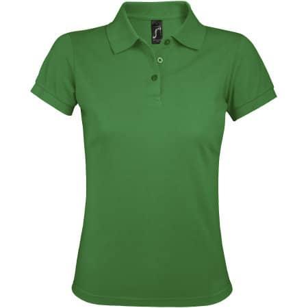 Women`s Polo Shirt Prime in Kelly Green von SOL´S (Artnum: L528