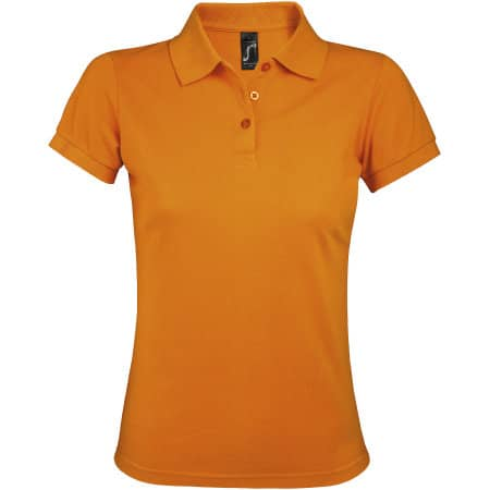Women`s Polo Shirt Prime in Orange von SOL´S (Artnum: L528
