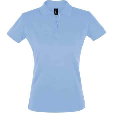Women`s Polo Shirt Prime in Sky Blue von SOL´S (Artnum: L528