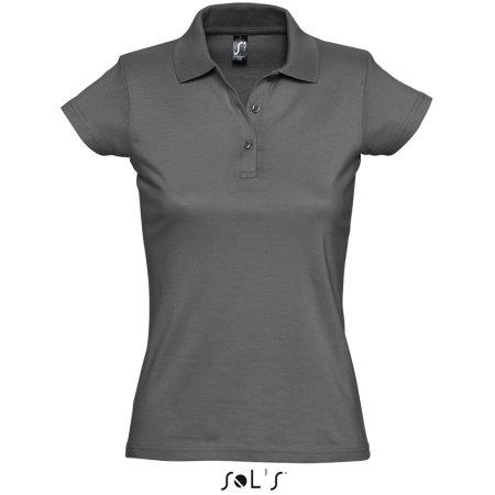 Women`s Polo Shirt Prescott in Dark Grey (Solid) von SOL´S (Artnum: L534