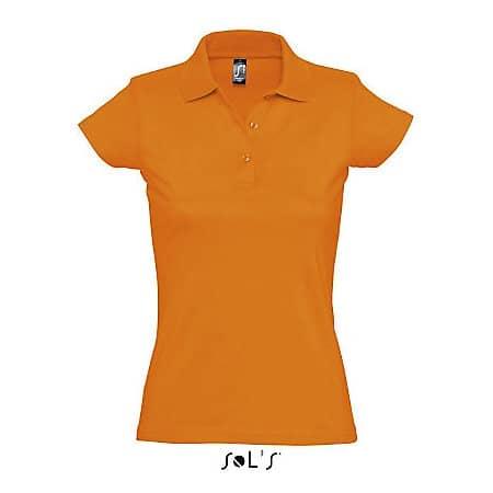 Women`s Polo Shirt Prescott in Orange von SOL´S (Artnum: L534