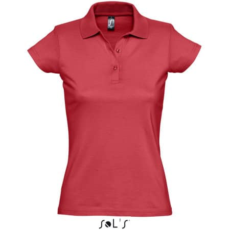 Women`s Polo Shirt Prescott in Red von SOL´S (Artnum: L534