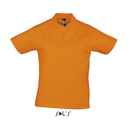 Men Polo Shirt Prescott in Orange von SOL´S (Artnum: L538