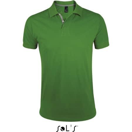 Men`s Polo Shirt Portland in Bud Green|Grey (Solid) von SOL´S (Artnum: L587