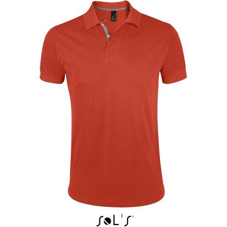 Men`s Polo Shirt Portland in Burnt Orange|Grey (Solid) von SOL´S (Artnum: L587