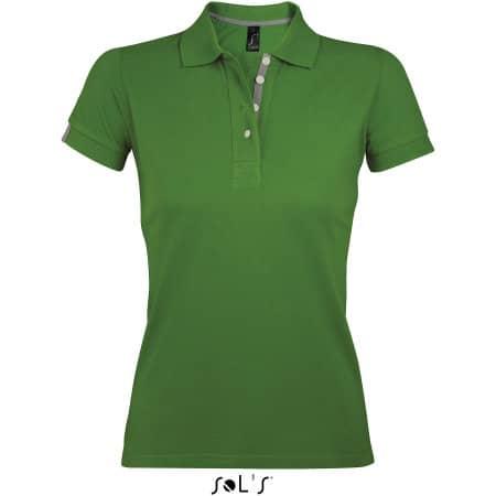 Women Polo Shirt Portland in Bud Green|Grey (Solid) von SOL´S (Artnum: L588