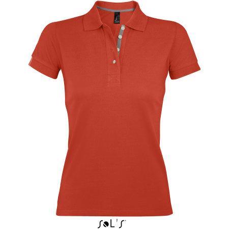 Women Polo Shirt Portland in Burnt Orange|Grey (Solid) von SOL´S (Artnum: L588
