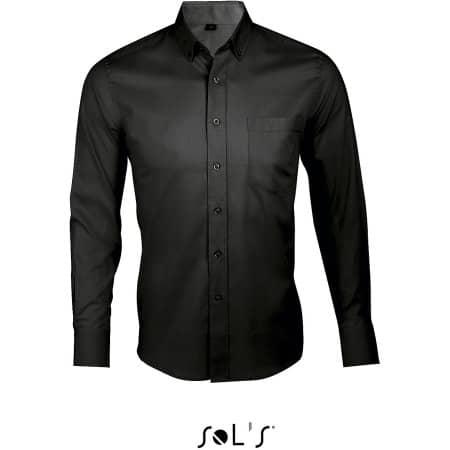 Long Sleeve Shirt Business Men in Black von SOL´S (Artnum: L602