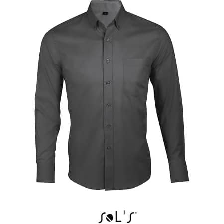 Long Sleeve Shirt Business Men in Titanium Grey von SOL´S (Artnum: L602