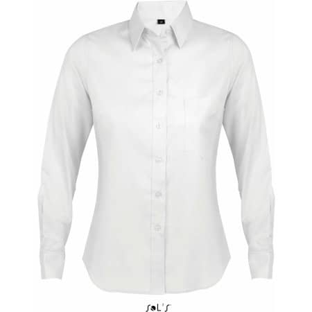 Long Sleeve Shirt Business Women in White von SOL´S (Artnum: L603
