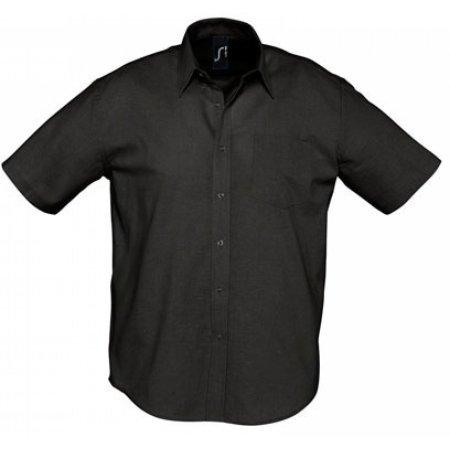Herren Oxford-Kurzarmhemd Brisbane in Black von SOL´S (Artnum: L612