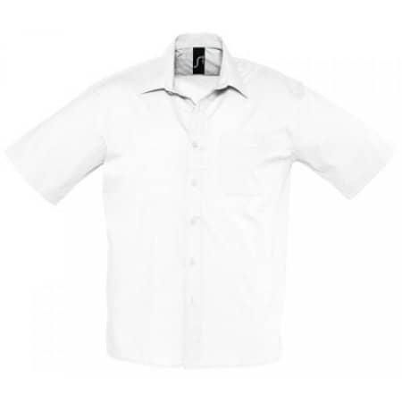 Popeline-Kurzarmhemd Bristol in White von SOL´S (Artnum: L622
