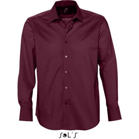 Herren Stretch-Langarmhemd Brighton von SOL´S (Artnum: L633